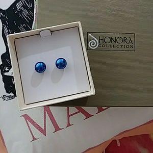 Honors Blue Pearl Stud Earrings (NWOT)